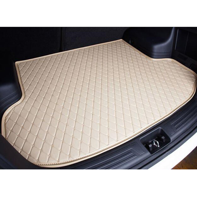 XWSN Special car trunk mat for Hyundai solaris ix35 30 25 Elantra MISTRA Grand Santafe accent Veloster coupe Genesis car styling custom fit car trunk mat for hyundai ix25 ix35 elantra santafe solaris tucson verna veloster car styling tray carpet cargo liner