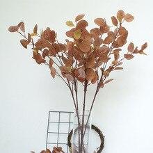 7 Pieces Artificial Plant Eucalyptus Simulation Money Leaf Wedding Home Decoration