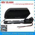 Para baixo tubo Ebike 48 48 W 500 v bateria de iões de lítio Da Bateria v 10.4ah Bateria Bicicleta Elétrica para 8fun bafang BBS02 BBSHD motor