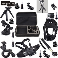 Go Pro Hero 4 Outdoor Chest Strap Tripod Car Dog Mount Accessories Kit For GoPro Hero4