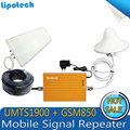 Новый Желтый Цвет GSM 850 мГц 1900 мГц Dual Band Смарт-Телефон Ракета-Носитель Репитера GSM Повторителя Booster, GSM Сигнала Booster GSM Усилитель