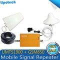 Nuevo Color Amarillo GSM 850 mhz 1900 mhz de Doble Banda de Refuerzo Repetidor Móvil GSM Repetidor, Amplificador de Señal GSM GSM Amplificador