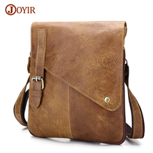Joyir Crossbody Bags For Men Genuine Leather Bag Shoulder Retro Vintage Man Casual Bag Male Leather Messenger Bags Handbags B205