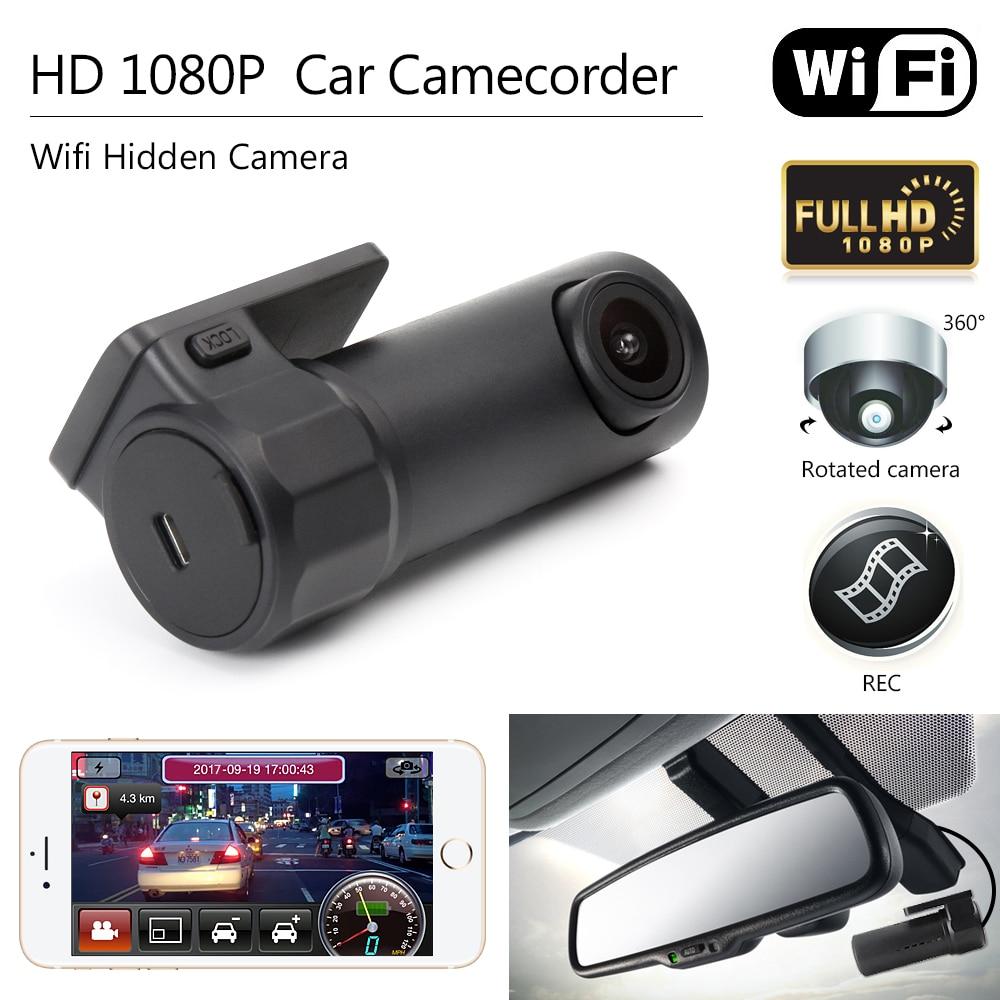 Car DVR Camera HD 1080P Mini Wifi DVR Video Recorder Camcorder Camera Night Vision Wireless Car Mini Hidden Dash Cam Camera
