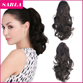 "1PC 12"" Short Curly Clip In Claw Ponytail Hair Extension with a jaw/claw Clip Heat-friendly Fiber Synthetic Hairpieces"