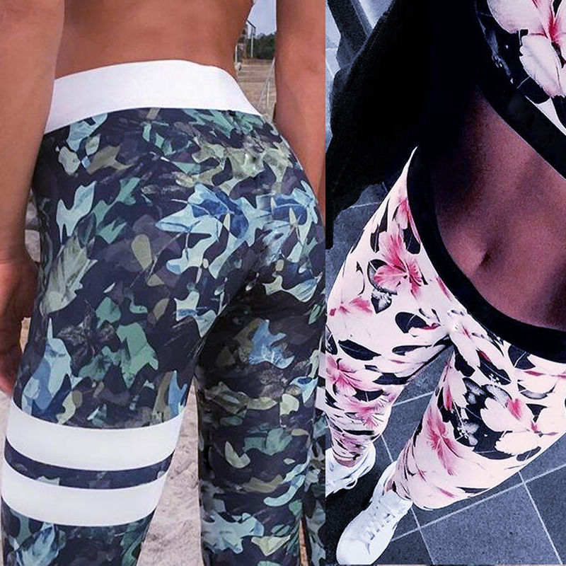Summer 2017 Womens Fitness Trousers Gym Sports Pants Compression Trousers