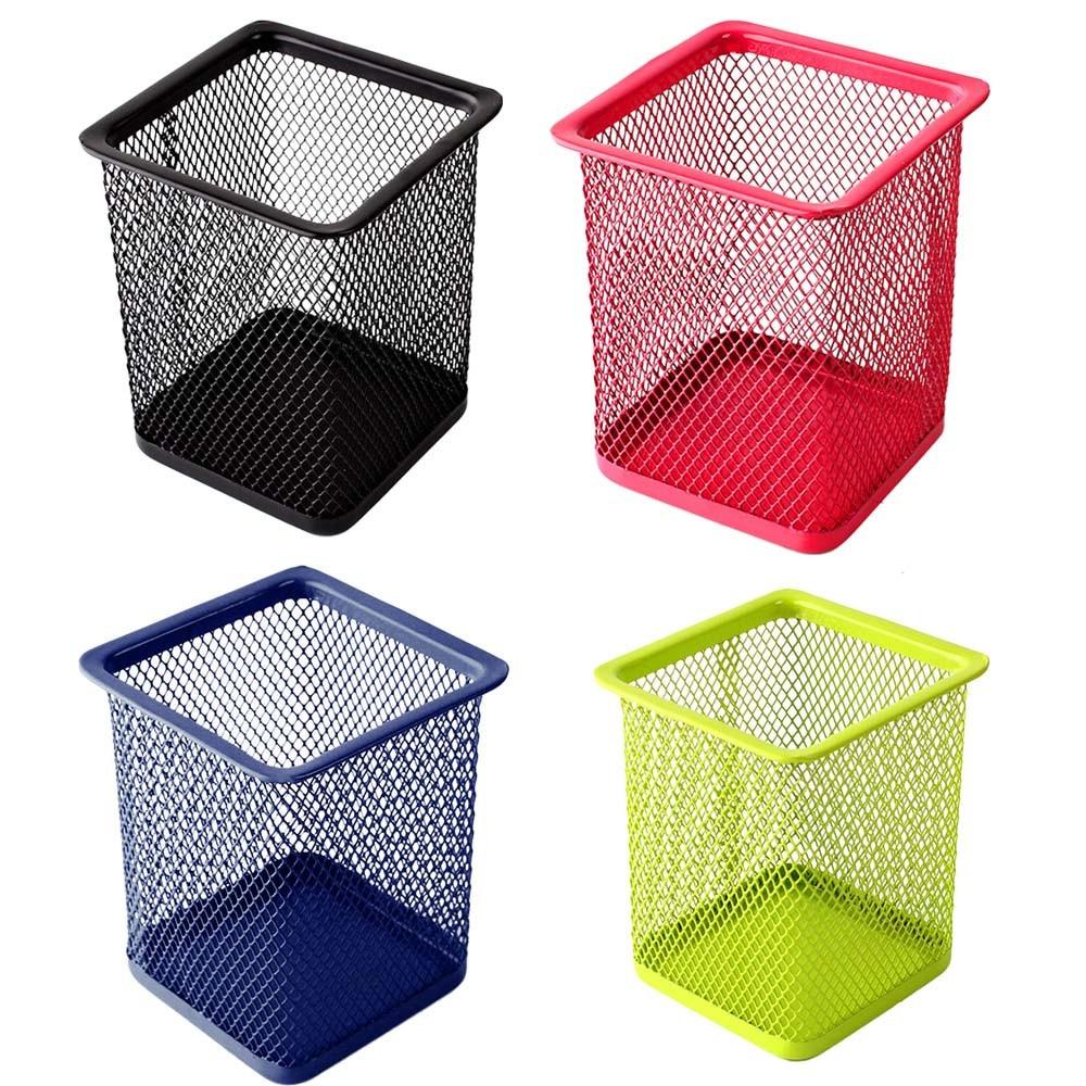 Vase Stationery Brush-Pot Desk-Table Storage-Box Makeup-Brush Metal-Holder Strong F901