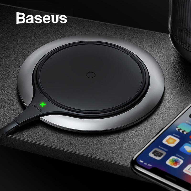 Baseus Wireless-Charger IPhone Xr Samsung Note9 10W Metal For Xs Max Desktop-Fast