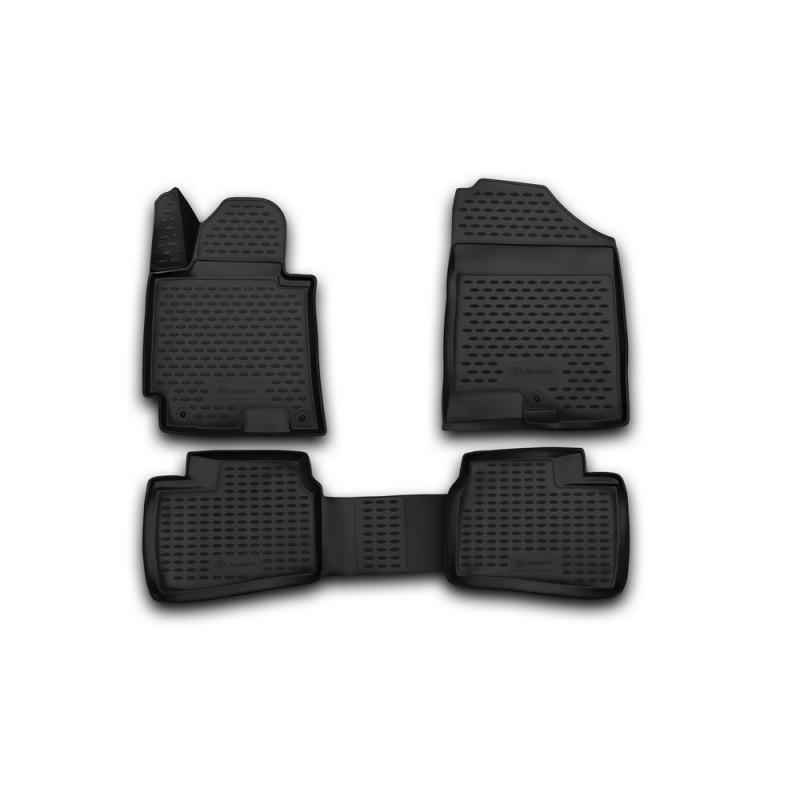 Car Mats 3D salon for HYUNDAI Elantra 2014-2016, 4 PCs (polyurethane) car mats 3d salon for hyundai elantra 2007 2010 4 pcs polyurethane