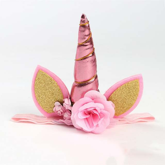 placeholder Photo Prop Unicorn Flower Crown Headband party headband Magical  Unicorn Headband Floral Gold Unicorn DIY Kit 8921d4c46a5