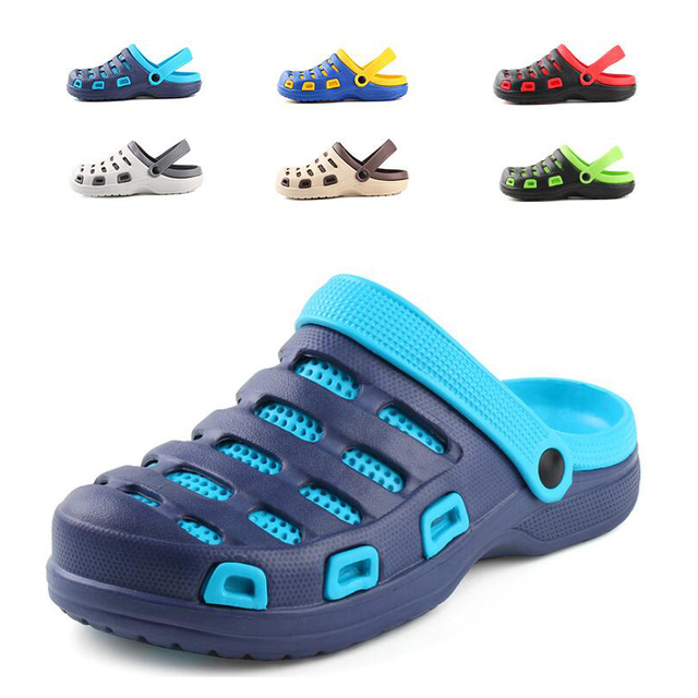 489612e7bca1 Men s EVA Clogs Slipper Summer sandals beach garden clog Shoes breathable  for man