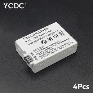 LP-E8 Bateria Batteries For Canon 7.4V 1350mAh Lithium ion Rechargeable Digital Battery EOS EOS Kiss X4 X5 X6i X7i T2i T3i
