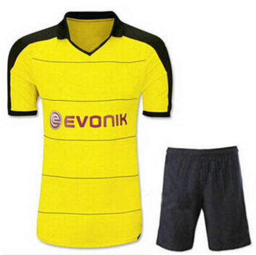 wholesale dealer 59bb5 74af7 15 16 Borussia Dortmund kits home yellow soccer football jersey kits. best  quality BVB soccer uniforms Jerseys embroidery logo