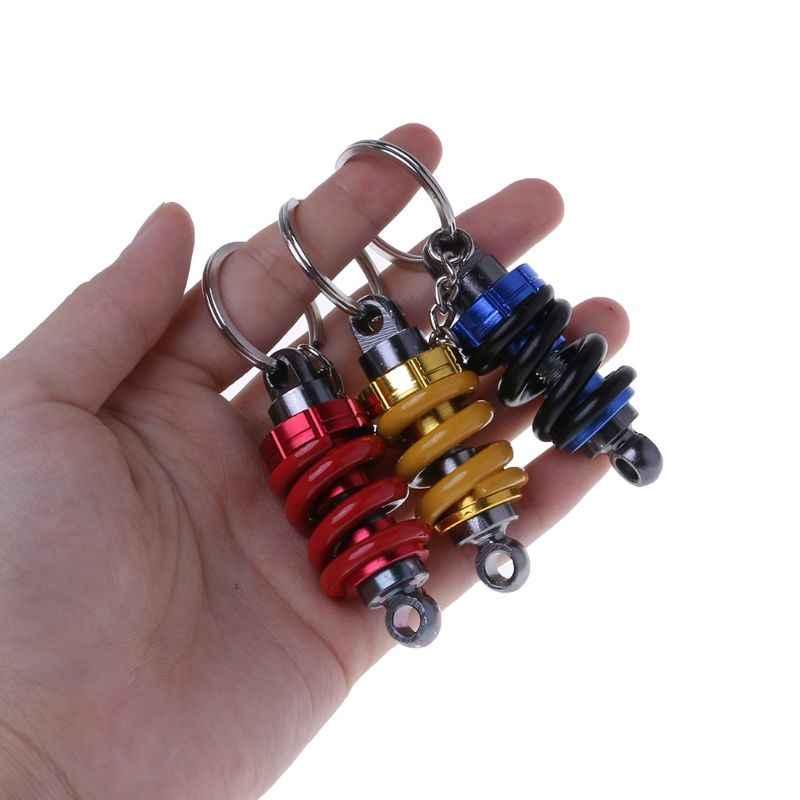 Carro da motocicleta chaveiro do motor modificado amortecedor chaveiro decoração do carro chaveiro automóvel moto acessórios