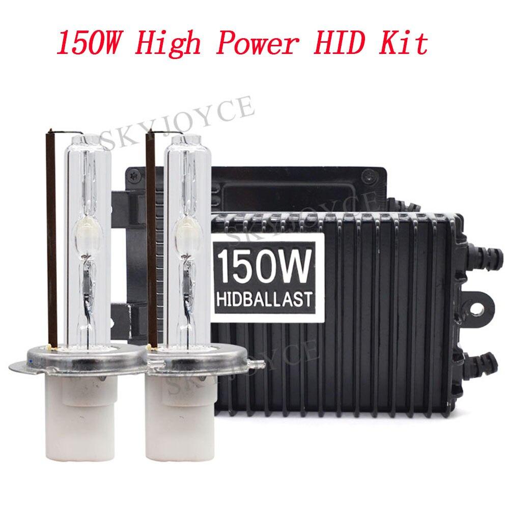 AC 12 v High Power 150 watt HID Ballast Kit H1 H3 H7 H11 9005 9006 D2H Keramik HID Birne 4300 karat 6000 karat 8000 karat 150 watt D2H H7 Auto Licht Kit