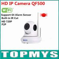 720 P HD IP Camera P2P Ondersteuning 64 Draadloze Alarm Ondersteuning IOS Smart Telefoon QF500 Wirless Wifi Camera