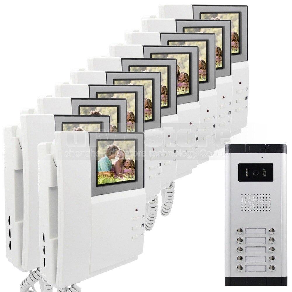 DIYSECUR 4 3 HD Monitor Apartment Video font b Door b font Phone Video Intercom Doorbell
