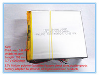 Free Shipping 3 7 V Lithium Polymer Battery 6000 Mah Large Capacity PDA Tablet PC MID