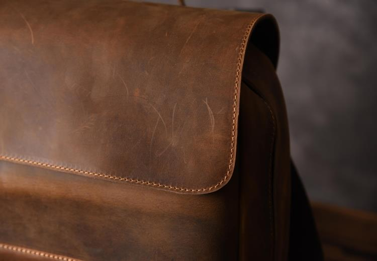brand leather backpack