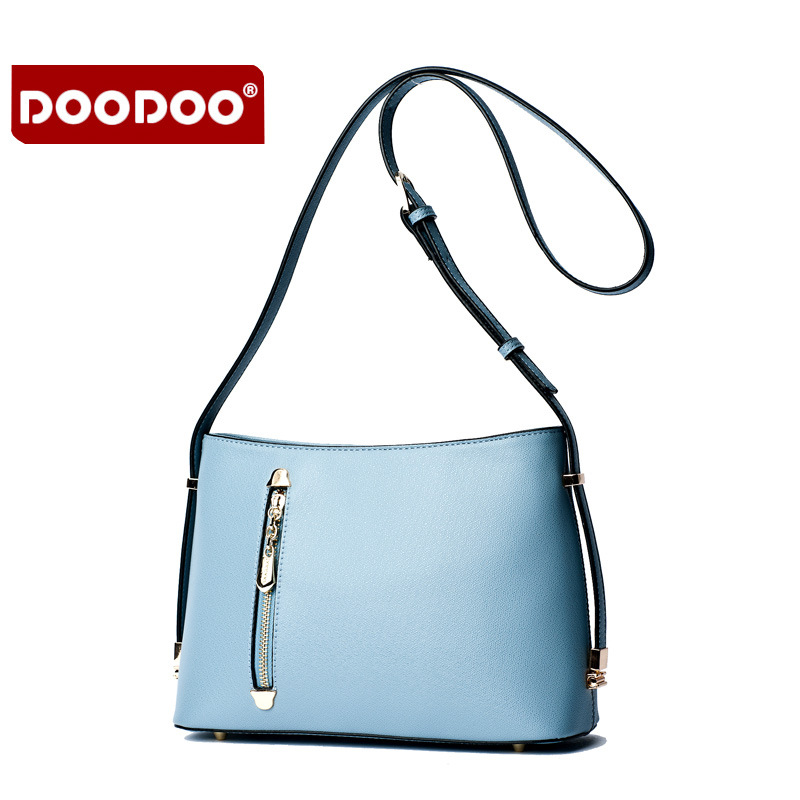 ФОТО DOODOO Famous Brand Genuine Leather Bag For Women Luxury Designer Handbags High Quality Bolsa Femininas Women Messenger Bag J798