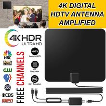 Antena de TV amplificada Digital HD Vmade 120 millas de alcance TV ISDB ATSC DVB T DVB T2 TV Antena de Interior para satélite DVB T2 receptor