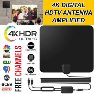 Image 1 - Vmade HD Digital Amplified TV Antenna 120 Miles Range TV ISDB ATSC DVB T DVB T2 TV Indoor Antenna for DVB T2 Satellite Receiver
