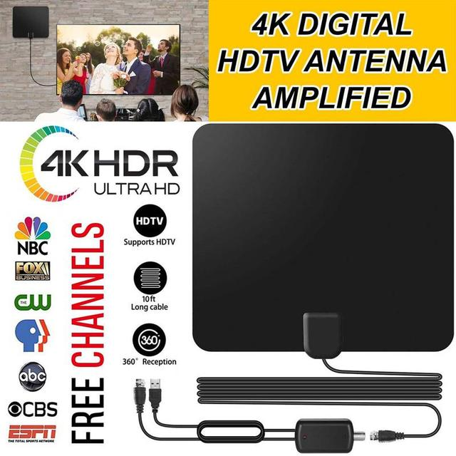 Vmade HD Digital Amplified TV Antenna 120 Miles Range TV ISDB ATSC DVB T DVB T2 TV Indoor Antenna for DVB T2 Satellite Receiver