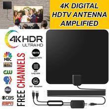 Vmade hd 디지털 증폭 tv 안테나 120 마일 범위 tv isdb atsc dvb t DVB T2 tv DVB T2 위성 수신기 용 실내 안테나