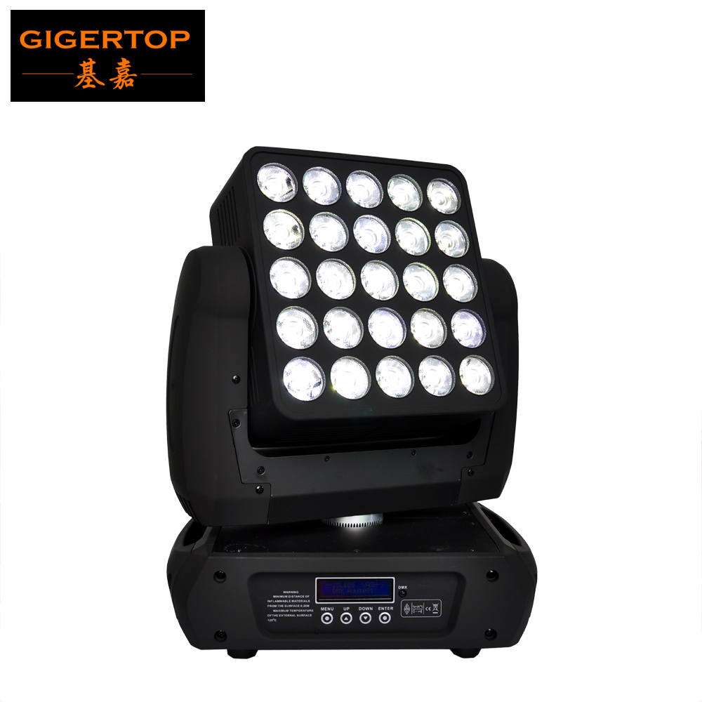 New Arrival Cree 25 4IN1 12W Array Led Beam Moving Head Light DMX512 Led Stage Light 19/29/117CH 90V-240V 5x5 Moving Head Matrix