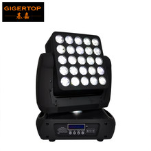 New Arrival Cree 25 4IN1 12W Array Led Beam Moving Head Light DMX512 Led Stage Light 19/29/117CH 90V-240V 5x5 Moving Head Matrix(China)
