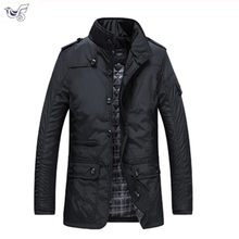 Men Coats 2018 Winter Jacket Men Slim Cotton Outwear Warm Coat Top Brand Clothing Casual Men's Coat Tops size jacket M-5XL
