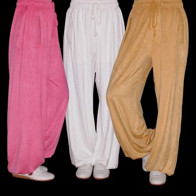 Китайская практика тай-чи stretch искусственной замши брюки брюки мужские и женские брюки кунг-фу Тай-чи одежда серии