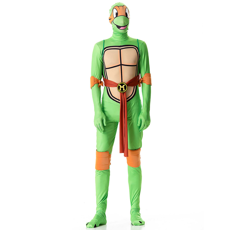 TITIVATE Halloween Cosplay Turtles Adult Costume Play Role Playing Tights Costume Animation Game Movie Costumes
