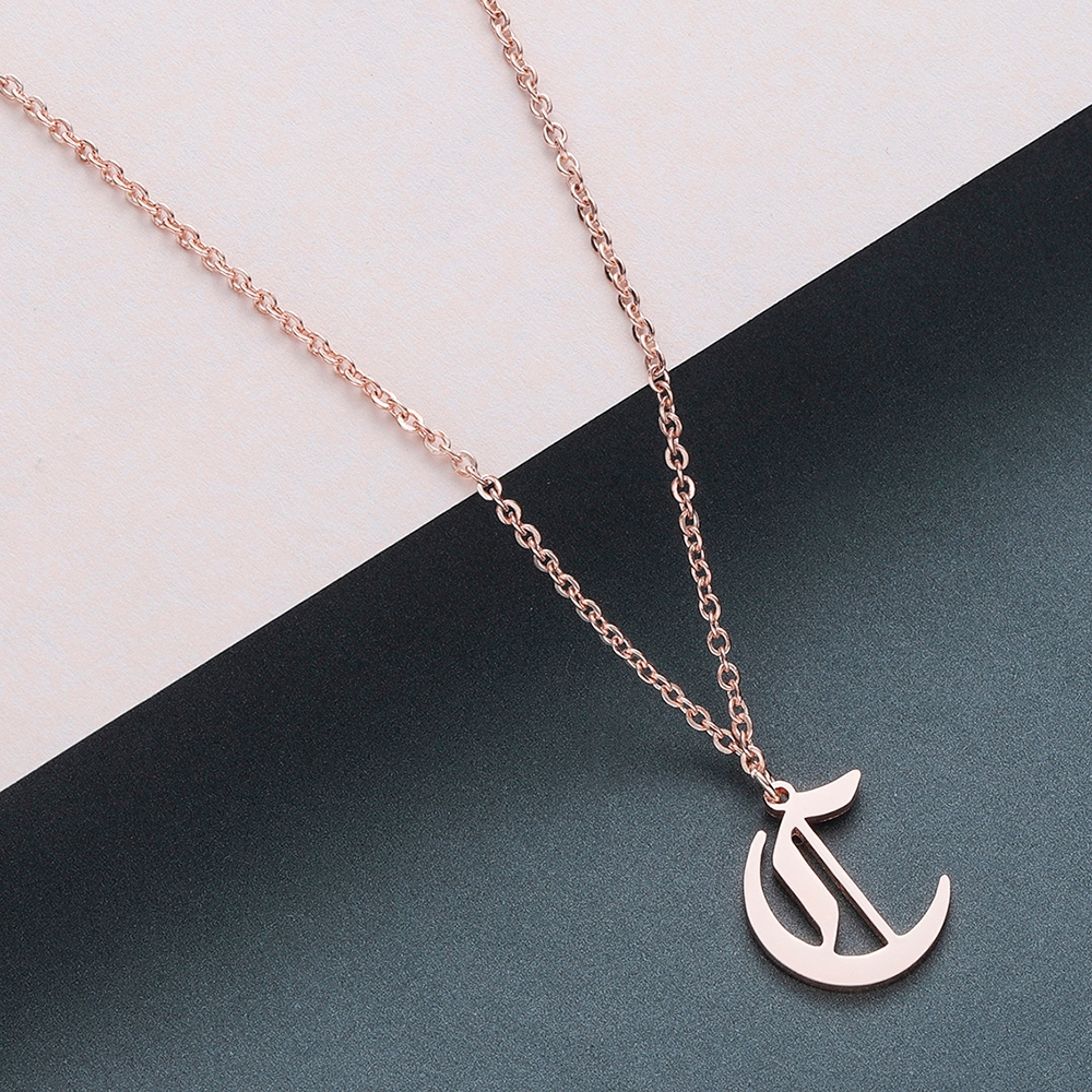 Todorova Old English Custom Capital Initial A-Z Letter Pendant Necklace Men Vintage Font Personalized Necklace Women Jewelry 7
