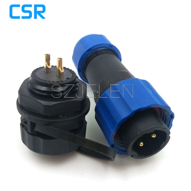 SD16 , 2 pin waterproof connector, power connector wire, 2 pin cable connectors, automotive connectors, male and female, IP68 lemo 1b 6 pin connector fgg 1b 306 clad egg 1b 306 cll signal transmission connector microwave connectors