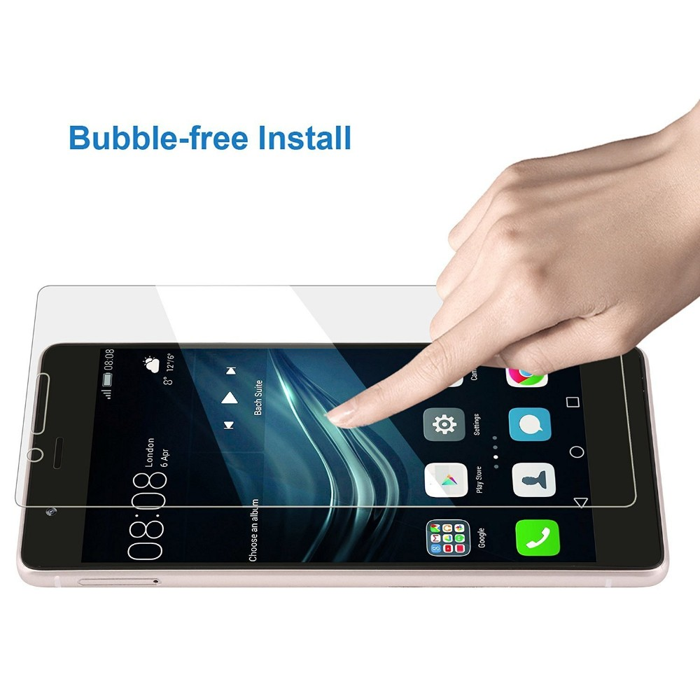 Tempered Glass for Huawei P6 P7 P8 P9 lite Honor 6 7 3C 4C 4X 5X Screen Protector Explosion-Proof Protective Film + Cleaning Kit 7