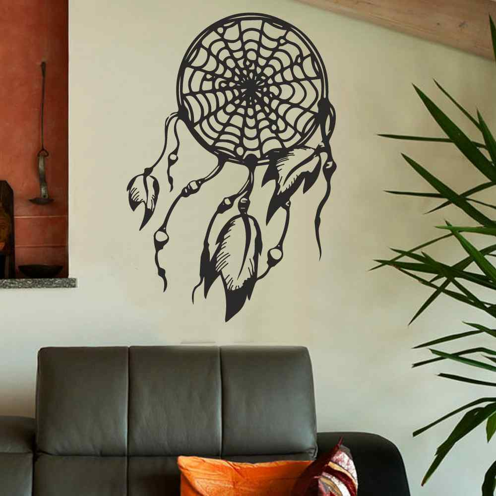 Camera Da Letto Hippie Us 15 12 Dream Catcher Adesivo Dream Catcher Decal Hippie Nativa America Boho Dreamcatcher Bohemien Camera Da Letto Dormitorio Living Room Decor In