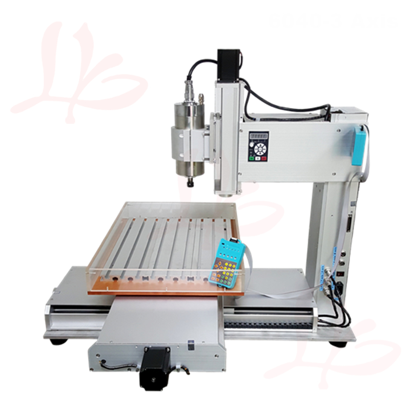 engraving machine cnc router 6040 3axis 1500W spindle pillar type cnc milling machine for metal wood glass so on