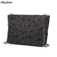 Maelove 2017 New Luminous bag Women Geometry handbag baobao bag Casual female bag Famous Logo Bag Free Shipping bao bao