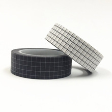 10M Black & White Grid Washi Tape Japanese Paper DIY Planner Colored Adhesive Masking Tapes Stickers Decorative Stationery Tapes недорого