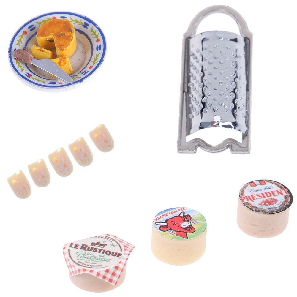 Mini Cheeses Planer For 1/12 Scale Dollhouse Miniature Simulation Kitchen Food Living Room Decoration Children Kids Toys