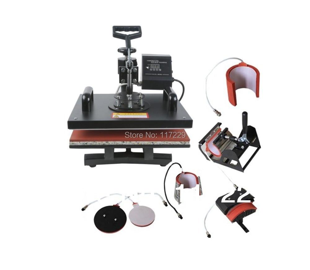 US $200 76 16% OFF|New Design Single Display 7 In 1 Heat Press Machine  ,Mug/Cap/Plate/TShirt heat press,Sublimation machine,heat transfer  machine-in