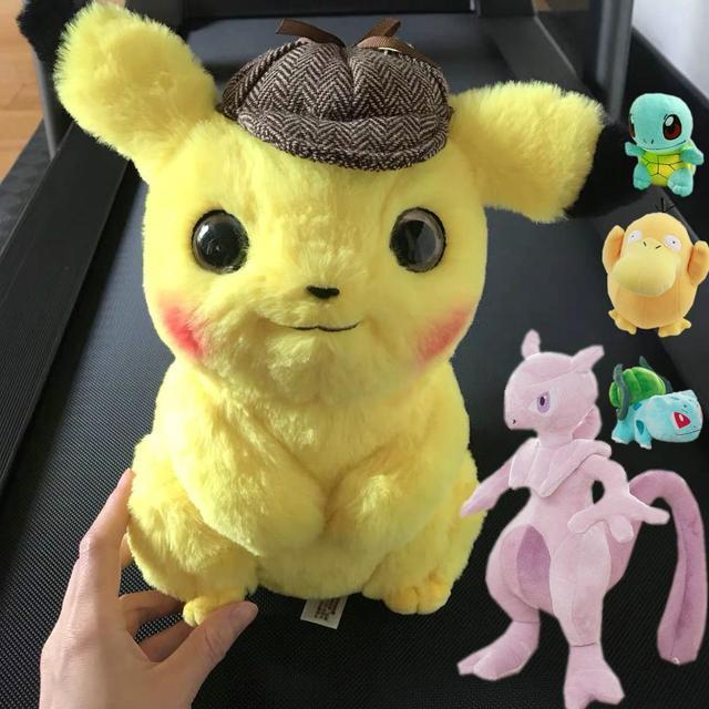 Gengar Brinquedo Jigglypuff Pelúcia Pikachu Poliwhirl Charmander brinquedos Filme anime Boneca Para presentes de aniversário do bebê Do Miúdo Macio Anime