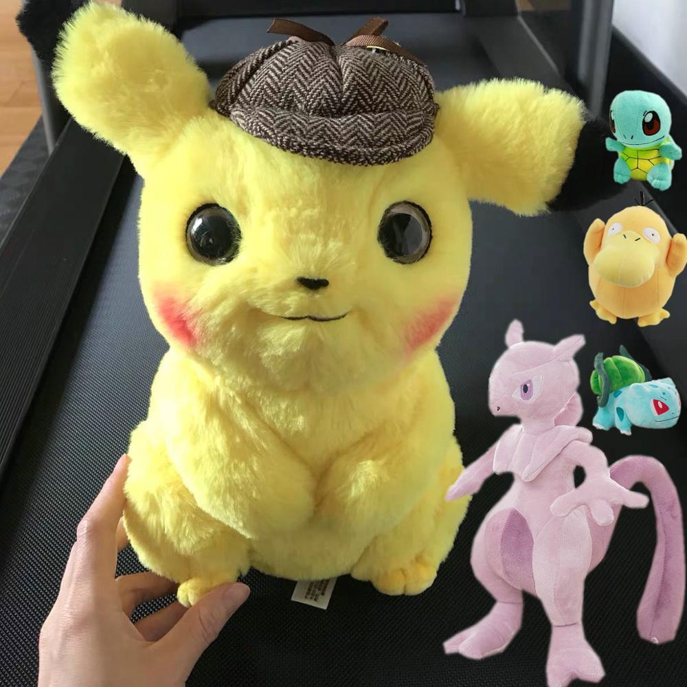 Pikachu Plush Toy Jigglypuff Poliwhirl Charmander Gengar toys Movie anime Doll For Kid baby birthday gifts Anime Soft