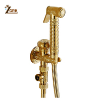ZGRK Ass Bidet Squeegee Golden Bathroom Faucet Shower System Washing Tap Tail Anal Nozzle Wall Handheld Hygienic