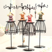 1PCS Home Decor Multifunctional Iron Jewelry Necklace Display Stand Vintage Jewelry Storage Shelves Racks