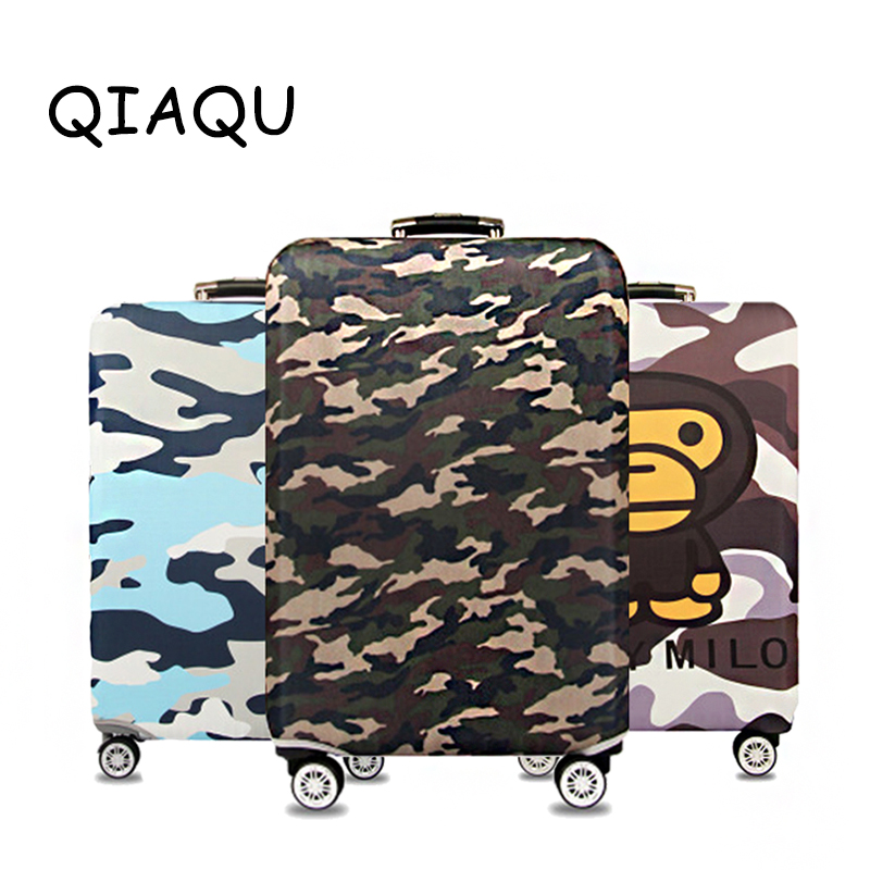 Generic Camouflage Elastic Luggage Cover Waterproof Suitcase Protector Case Travel Accessories Luggage Dust Cover Apply to 18-32