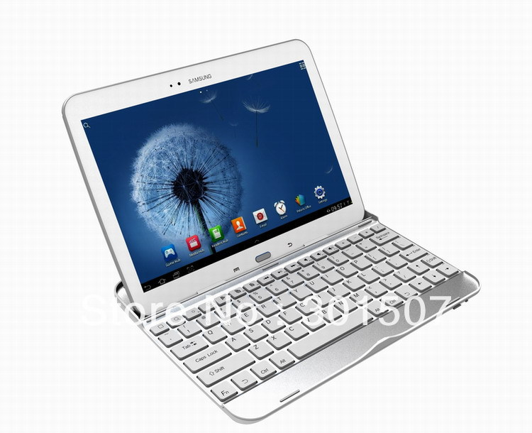 Tab3 10.1 inch P5200 aluminum alloy bluetooth keyboard For Samsung GALAXY Tab 3 P5200-in Tablets