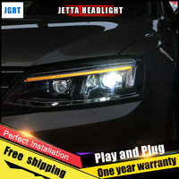 2 шт. автомобиля Стиль светодио дный фары для VW Jetta 2012 2016 для лампа Jetta голову светодио дный объектив двойной луч H7 Ксеноновые bi Xenon объектива