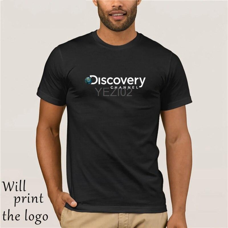 new product 1fdb4 acced US $9.83 18% OFF|Aliexpress.com : Buy Nuovo Discovery Channel Logo uomo  Manica Corta T Shirt Nera Taglia S Alla 3XL Maniche Corte In Cotone T ...